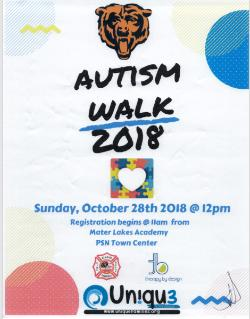 Autism Walk Sunday, October 28th