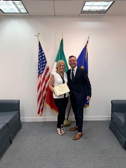 EDUITALIA Scholarship Award Winner, Mrs. Dilabio