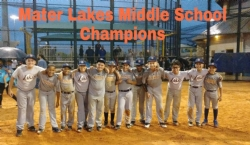 Middle School Baseball team wins Championship!!