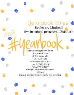 Senior Dedication Pages and Yearbooks on Sale!