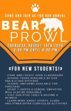 Join us at Bear Prowl for New Students!